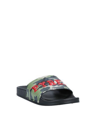 Фото 2 - Мужские сандали PYREX цвет зеленый-милитари