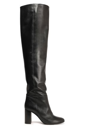 MAJE Leather over-the-knee boots