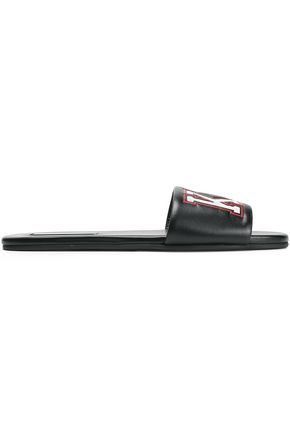 MICHAEL KORS COLLECTION Embossed leather slides