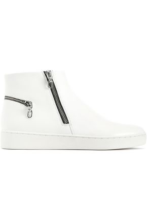 MICHAEL KORS COLLECTION Zip-embellished leather sneakers