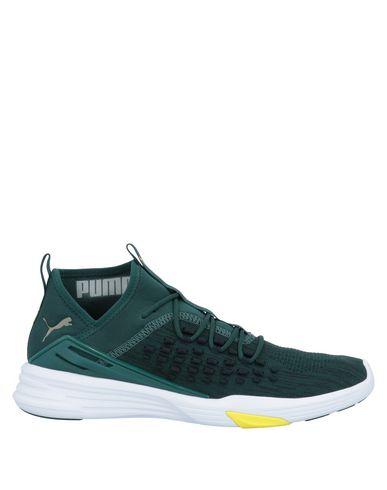 Купить Низкие кеды и кроссовки темно-зеленого цвета