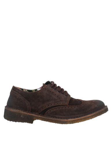 Купить Обувь на шнурках от WEG темно-коричневого цвета