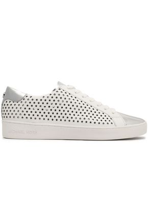 MICHAEL MICHAEL KORS Irving laser-cut leather sneakers
