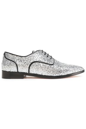 RED(V) Glittered leather brogues