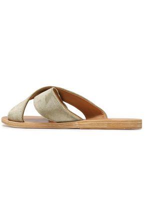 ANCIENT GREEK SANDALS Thais velvet slides