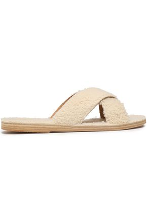 ANCIENT GREEK SANDALS Thais shearling slides