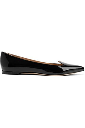 SERGIO ROSSI Godiva patent-leather point-toe flats