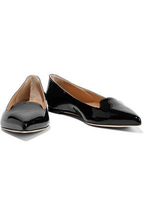 SERGIO ROSSI Godiva patent-leather point-toe flats