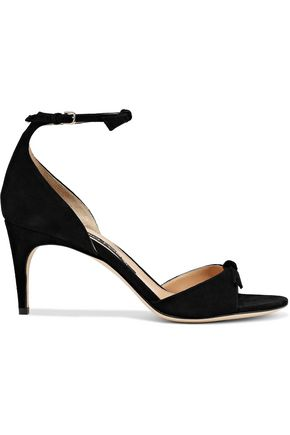 SERGIO ROSSI Bow-embellished suede sandals