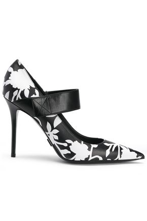MICHAEL KORS COLLECTION Floral-print leather Mary Jane pumps