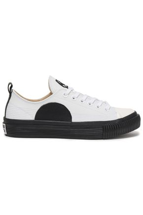 McQ Alexander McQueen Plimsoll appliquéd leather sneakers