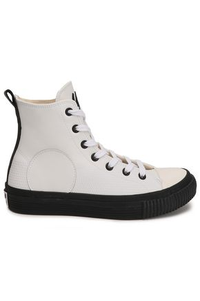 McQ Alexander McQueen Plimsoll leather high-top sneakers