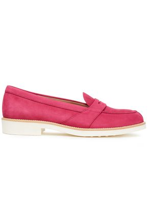 TOD'S Textured suede loafers