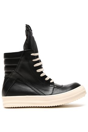 RICK OWENS Quilted leather high-top sneakers