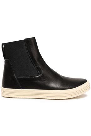 RICK OWENS Mastodon leather high-top sneakers