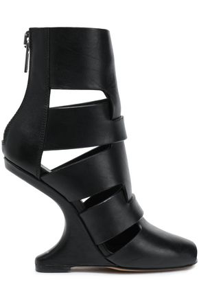RICK OWENS Cutout leather boots