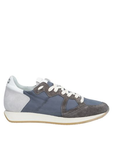 Купить Низкие кеды и кроссовки от PHILIPPE MODEL грифельно-синего цвета