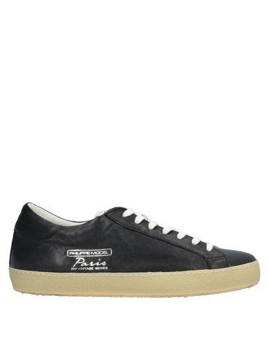 Купить Низкие кеды и кроссовки от PHILIPPE MODEL черного цвета