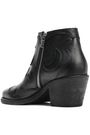 McQ Alexander McQueen Solstice cutout pebbled-leather ankle boots