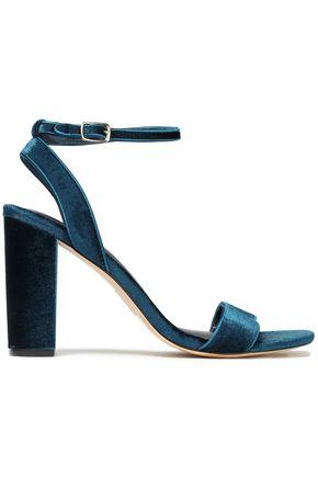 SANDRO Velvet sandals