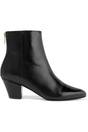 ATP ATELIER Bea glossed-leather ankle boots