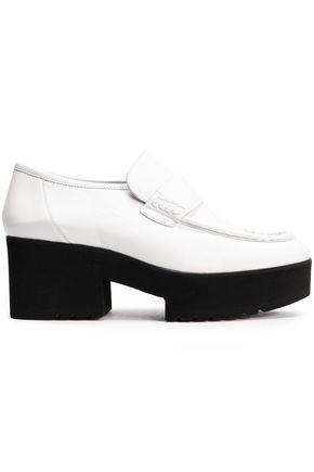 MAJE Leather platform loafers