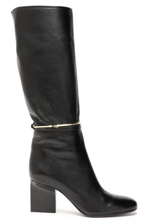 JIL SANDER Ring-embellished leather boots