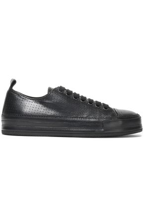 ANN DEMEULEMEESTER Perforated leather sneakers