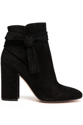 GIANVITO ROSSI Knotted suede ankle boots