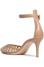 GIANVITO ROSSI Leather and mesh pumps
