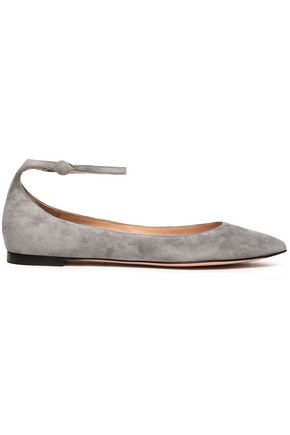 GIANVITO ROSSI Vivian suede point-toe flats