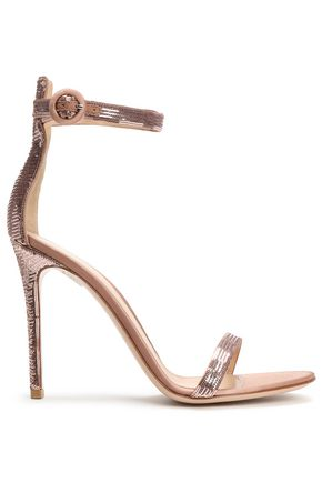 GIANVITO ROSSI Sequined silk-satin sandals