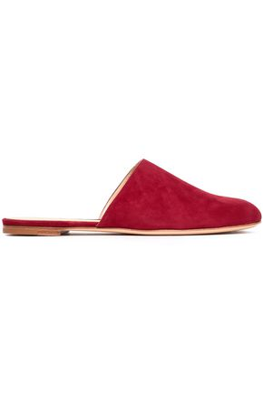 GIANVITO ROSSI Paloma suede slippers