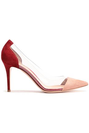 GIANVITO ROSSI Suede and PVC-paneled pumps