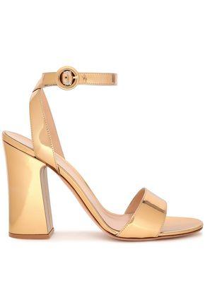 GIANVITO ROSSI Tandi mirrored leather sandals