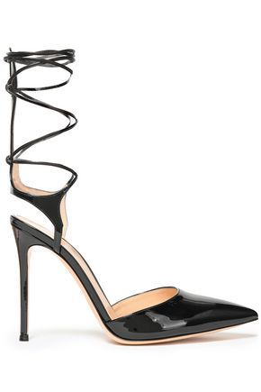 GIANVITO ROSSI Lace-up patent-leather pumps