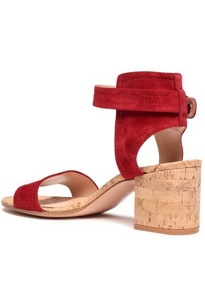 GIANVITO ROSSI Rikki suede and cork sandals