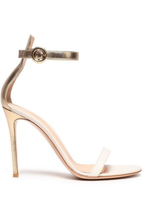 GIANVITO ROSSI Two-tone leather sandals