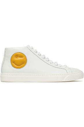 ANYA HINDMARCH Embossed leather sneakers