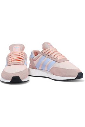Adidas Originals Sneakers ADIDAS ORIGINALS WOMAN I-5923 LEATHER AND SUEDE-TRIMMED NEOPRENE SNEAKERS BLUSH