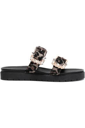MOTHER OF PEARL Embellished jacquard slides