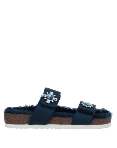Купить Женские сандали  темно-синего цвета