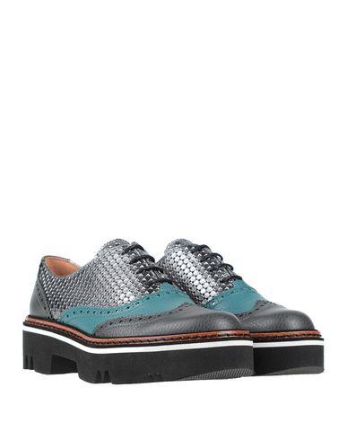 Фото 2 - Обувь на шнурках свинцово-серого цвета