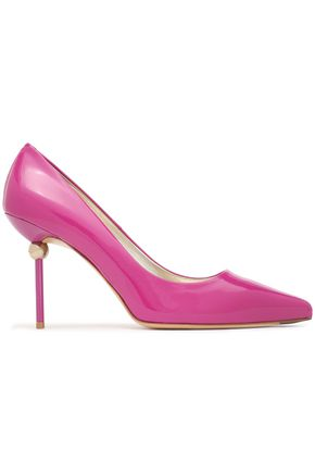 ROGER VIVIER Appliquéd patent-leather pumps