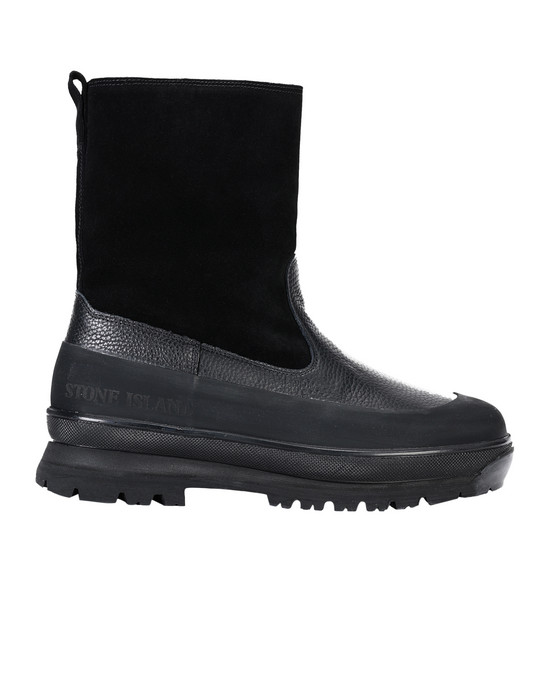 STONE ISLAND SHOE S0492 LEATHER/SHEEPSKIN BOOT