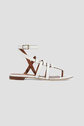 SERGIO ROSSI Capri leather sandals