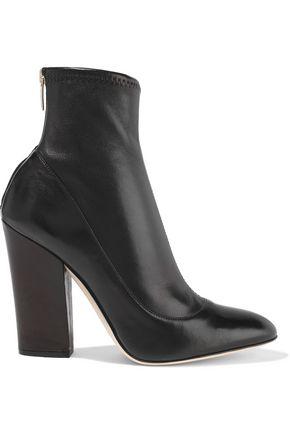 "SERGIO ROSSI حذاء بوت على شكل جوارب ""فيرجينيا"" من الجلد المرن"