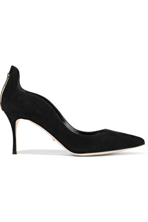 SERGIO ROSSI Blink cutout suede pumps