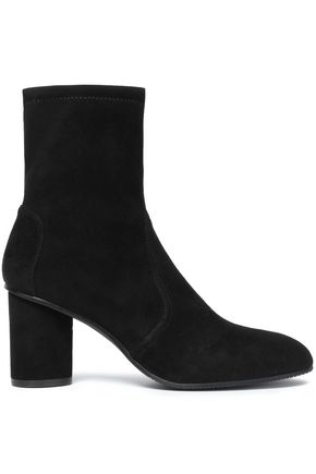 STUART WEITZMAN Stretch-suede sock boots