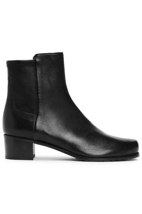 STUART WEITZMAN Paneled leather ankle boots